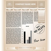 Webpage template — Stock Vector
