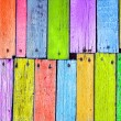 Colorful wood board nailed — Stock Photo
