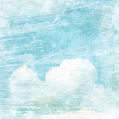 Vintage texture background with clouds — Stock Photo