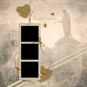 Vintage background with photo frames — Stock Photo