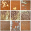 Collection of old rusty metal texture — Stock Photo