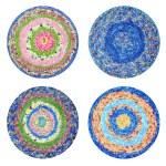 Round rugs Handmade — Stock Photo