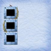 三个木制框架的照片 — 图库照片