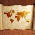 Starożytny zwój mapę z zakrętach — Zdjęcie stockowe #8476176