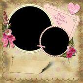 Happy Valentine's Day - Vintage Photo Album. — Stock Photo