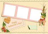 Retro photo album - Happy Valentine's Day — Stock Photo