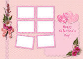 Happy Valentine's Day - Retro Photo Album — Stock Photo