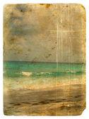 Indian Ocean, Seychelles. Old postcard. — Stockfoto