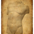 Old postcard with torso - Stock Photo