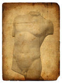 Old postcard with torso — Stock Photo