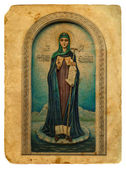 Icon of the Holy. Old postcard. — Stock Photo