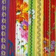 Stock Photo: Detail of patchwork fabric handmade