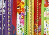 Détail du tissu de patchwork à la main — Photo