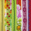Detail of patchwork fabric handmade — Foto Stock