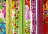 Detalj av lapptäcke tyg handgjorda — Stockfoto