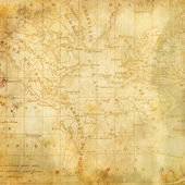 Background with the old map of the Americas — Foto de Stock