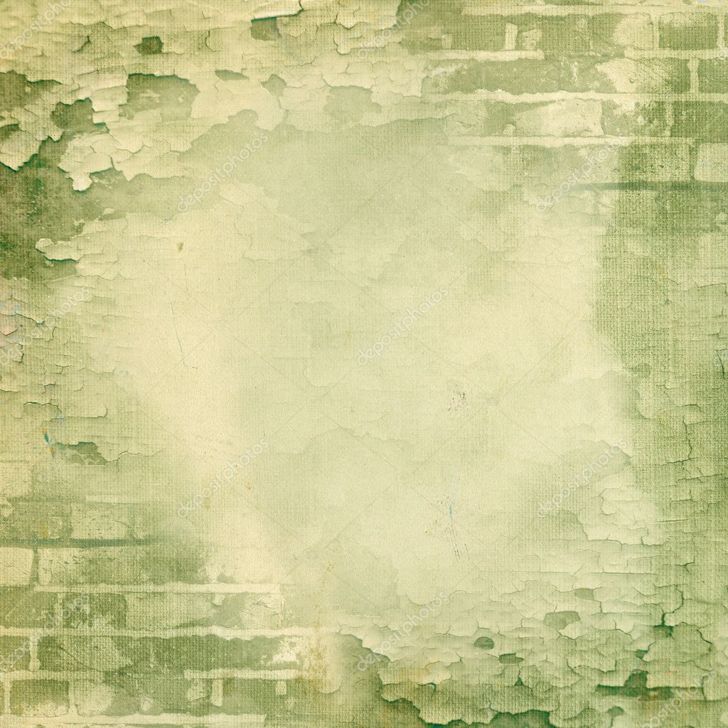 녹색 벽, 벽돌, 깨진된 페인트 — 스톡 사진 © aelita #9742000