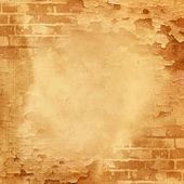 Abstract wall, brick, cracked paint — Stock Photo