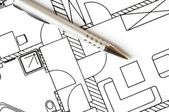 Architektonischen plan — Stockfoto