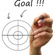 Arrows arrive Goal — Stockfoto