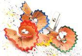 Rasatura di matita colorata — Foto Stock