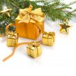 Gold  Christmas — Stock Photo