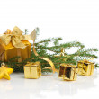 Gold  Christmas - Stock Photo