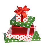 Stack of gift boxes — Stock Photo