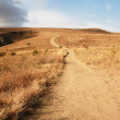 Path in hills - Stock Photo