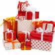 Stack of gift boxes - Stock Photo