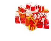 Stapel von Geschenkboxen — Stockfoto