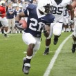 Penn State running back #21 Stephon Green runs with the football — Stock Photo