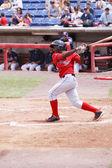 Portland Sea Dogs second baseman Oscar Tejada — Stock Photo