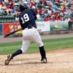 Left-handed baseball batter, close-up,left-handed — Stock Photo