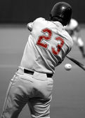 Right-handed baseball batter — Stock Photo