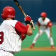 Right-handed baseball batter, close-up right-handed — Stock Photo #9776577
