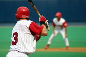 Right-handed baseball batter, close-up right-handed — Stock Photo