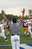 árbitro de fútbol señala un touchdown — Foto de Stock