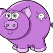 Crazy Insane Pig Vector Illustration — Stock Vector