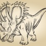 Sketch Doodle Triceratops Dinosaur Vector — Stock Vector #10198120