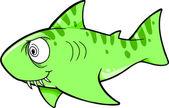 狂ったサメ ベクトル イラスト — ストックベクタ