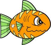 Tough Fish Illustration — Stock Vector