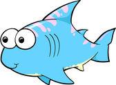 Cute Shark Illustration — Stock Vector