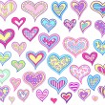 lente valentine Pasen harten vector set — Stockvector