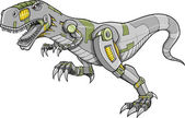 Robot Cyborg Tyrannosaurus Dinosaur Vector Illustration — Stock Vector