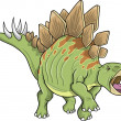 Stegosaurus Dinosaur Vector Illustration - 