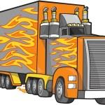 Giant Truck Vector Illustration — Stock Vector