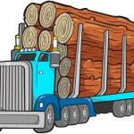 Logging Truck Vector Illustration — Stock Vector