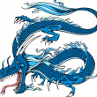 Blue Dragon Vector Illustration — Stock Vector