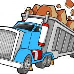 Dump Truck Vector Illustration — Stock Vector